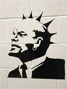 Banksy Lenin Mohican Punk Graffiti - Weston-Super-Mare, Somerset