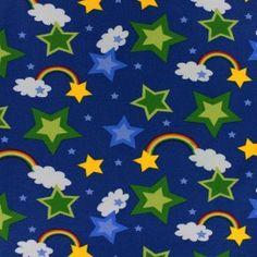Tissu Jersey Rainbow marine x Creations, Flag, Kids Rugs, Rainbow, Logos, Fabric, Printed Cotton, Fabrics, Rain Bow