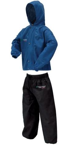 Frogg Toggs Classic Pollywogg Kids Rain Suit $24.95  find it here www.froggtoggs.com