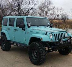super Ideas for cars jeep wrangler tiffany blue Auto Jeep, Jeep Jk, Jeep Truck, Wrangler Jeep, Jeep Wranglers, Jeep Rubicon, Jeep Cherokee, My Dream Car, Dream Cars