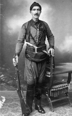 """A proud Cretan... from facebook page """"Cretans Like Us"""" Greek Independence, An Officer And A Gentleman, Crete Island, Greek History, Creta, Simple Photo, My People, Military History, Cyprus"""