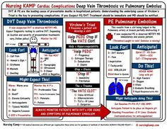 Cardiac - 7 Deep Vein Thrombosis DVT Nursing KAMP StickEnote TWS 036