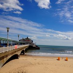 Bournemouth beach perfect for a paddle or swim on a sunny day, yet perfect on a chilly evening with fish and chips.