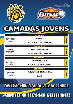 ACR Futsal: Próximos jogos formação > 1, 2 e 3 Novembro 2013  #ValeDeCambra #futsal
