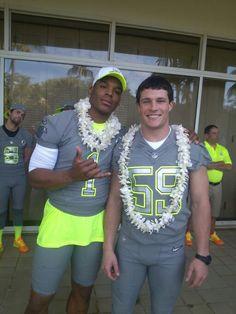 Cam Newton and Luke Kuechly Pro Bowl 2014