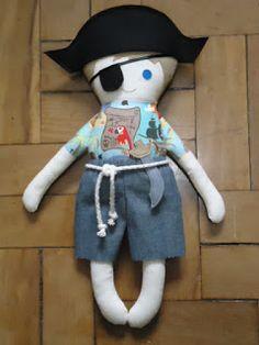 Pirata - Fabric Rag Doll