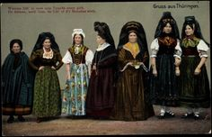 Traditional German female clothing, ca. Folk Costume, Costumes, People Around The World, Fashion History, Traditional Outfits, Germany, Poster, Glamour, Clothes For Women