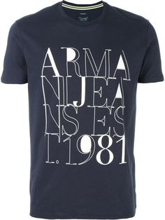 Armani Jeans front print T-shirt