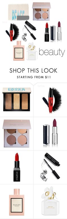"""""""beauty 2"""" by andreaa16-00 on Polyvore featuring beauty, Bobbi Brown Cosmetics, Givenchy, Smashbox, Gucci and Marc Jacobs"""