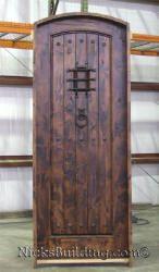 Rustic Arch Top Exterior Door - Radius Elliptical Round Top Doors