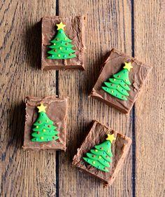 Christmas Fantasy Fudge with Edible Trees Recipe