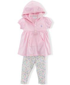 256a7e90fc Ralph Lauren Baby Girls  2-Piece Hoodie   Leggings Set Kids - Sets    Outfits - Macy s