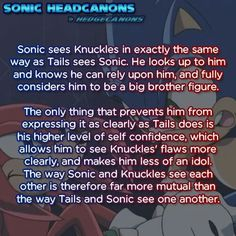 What Sonic feels about Knuckles