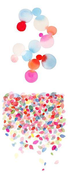 watercolors by yao cheng   beautiful colors to inspire