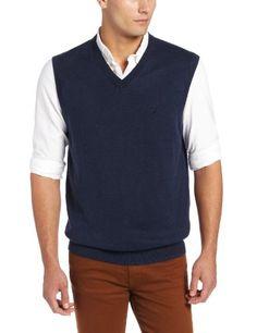 Nautica Men's Solid V-Neck Sweater Vest, Cadet Heather, Small NAUTICA,http://www.amazon.com/dp/B00D8446I2/ref=cm_sw_r_pi_dp_CMRusb15WSVNVWZ0