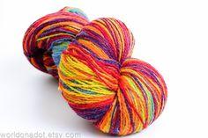 Kauni Wool Yarn SelfStriping Rainbow FREE SHIPPING #Kauni, $25.70 @etsy