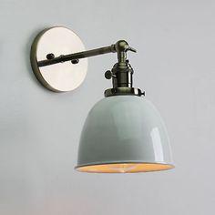 VINTAGE ANTIQUE INDUSTRIAL BOWL SCONCE LOFT WALL LIGHT WALL LAMP E27 LED BULB