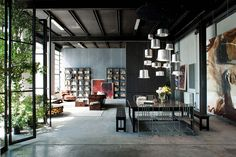 Milan Loft Design Takes Black Metal to the Next Level
