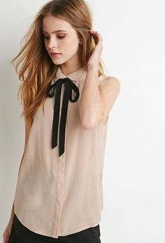Peter Pan Collar Bow Blouse | Forever 21 - 2000077149