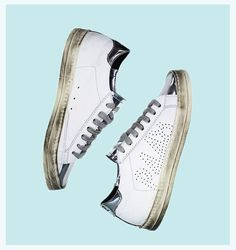 P448 Sneaker | A6 John - weiß | silber