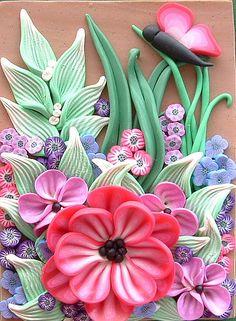 Butterfly Garden ACEO by ZudaGay, via Flickr