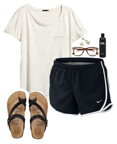 contest // day 5 by daydreammmm ❤ liked on Polyvore featuring HM, NIKE, Ray-Ban and SsPlbbeachTrip