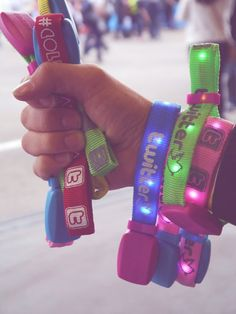 light up wristbands from Coldplay... The Coldplay Mylo Xyloto Tour was the best concert of my life.