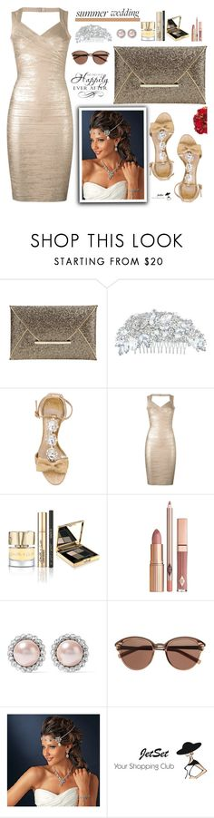 """""""Say I Do: Summer Weddings, JetSet!"""" by samra-bv ❤ liked on Polyvore featuring Olgana, Hervé Léger, Miu Miu, Witchery, WALL, Summer, bag, summerwedding, earrings and summervibes"""