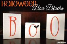 Halloween Boo Blocks Banner via sodapave.com