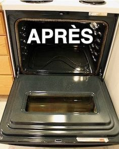 Here's Grandma's tip for quickly cleaning a dirty oven with baking soda, percarbonate and white vinegar.