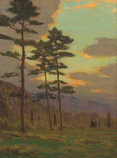 """""""Sunlight Through the Trees,"""" Charles Warren Eaton, oil on canvas, 16 x 12"""", private collection."""