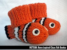 Ravelry: Nemo the Clown Fish Booties pattern by Janet Jameson