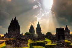 #Prambanan. One of the most beautiful temple complexes in the world, this Hindu temple was built circa 850 AD. Central tower is 47 m high. Whole complex is rich with symbolic meaning and contains numerous art values. Central #Java, #Indonesia