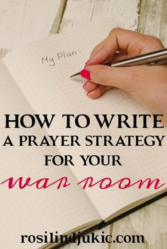 Here are 6 steps you need to follow to write out a successful prayer strategy to live and walk in continually victory in your life.