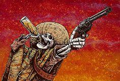 Day of the Dead Artist David Lozeau, Shot for Shot, Dia de los Muertos - Tattoo MAG Skeleton Tattoos, Skeleton Art, Skeleton Makeup, Fantasy Kunst, Fantasy Art, Mexican Skeleton, Mexican Skulls, Mexican Skull Tattoos, Los Muertos Tattoo