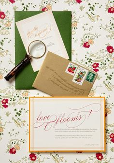 chinoiserie and garden inspired stationery suite