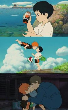 This Haikyuu/Ponyo crossover is so perfect! My small children are cute
