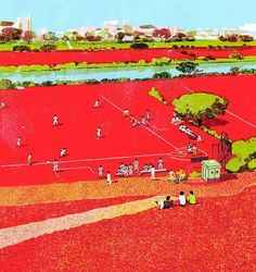 #baseball #sports #japan #illustration #tatsurokiuchi #art #people #holiday #sunday #life