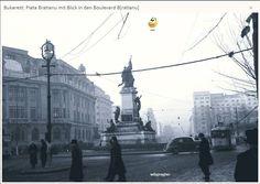 Pragher, Piata Bratianu, 1941 Paris, Bucharest Romania, Time Travel, Statue Of Liberty, Amen, Louvre, Street View, Memories, Building
