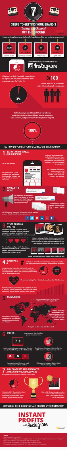 7 Steps to Getting Your Brand's Instagram Channel Off the Ground [Infographic, Digital Marketing, #NerdMentor]