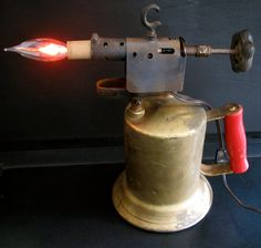Repurposed Vintage Blow Torch Table Lamps By EastchesterandOrange, $165.00    Gift Ideas   Pinterest   Torches, Repurposed And Table Lamps