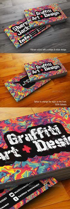 business cards graffiti - Google Search