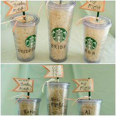 will you be my bridesmaids? starbucks edition. @Starbucks Loves