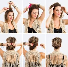 Messy Bun Tutorial for Short Hair