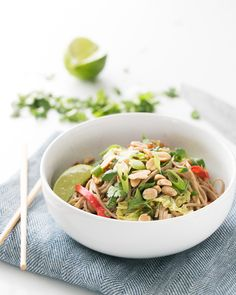 Peanut Noodles with Napa Cabbage   a Couple Cooks