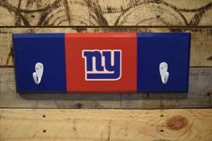 A personal favorite from my Etsy shop https://www.etsy.com/listing/469967331/new-york-giants-2-hook-hat-coat-rack