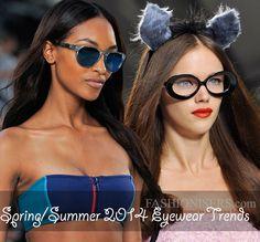 Spring/ Summer 2014 Eyewear Trends  #sunglasses #eyewear
