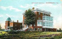 Sherbrooke Quebec Canada 1908 Protestant Hospital Antique Vintage Postcard