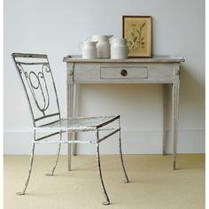 Swedish Table...with a rustic chair