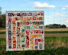 what a stunning layout! Tula Pink's City Sampler by Persimmon Dreams